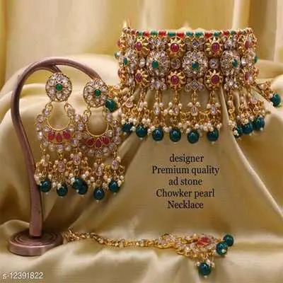 Green Elite Colorful Jewellery Sets