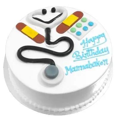 Happy Birthday Doctor Theme Cake