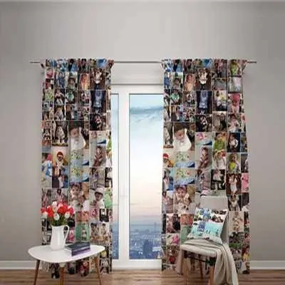 Personalised Photo Curtain