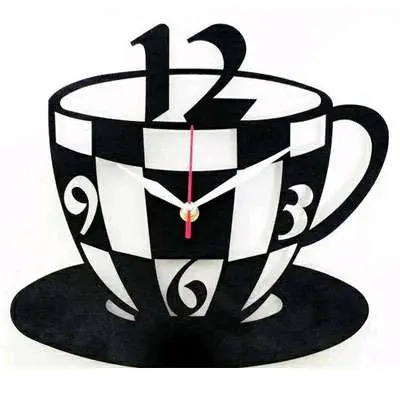 Tea Cup Fancy Wall Clocks