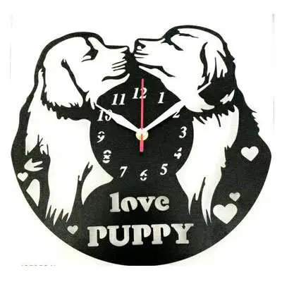 Loving Puppy Fancy Wall Clocks