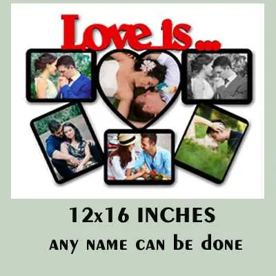 MDF Wooden Love Photo Frame