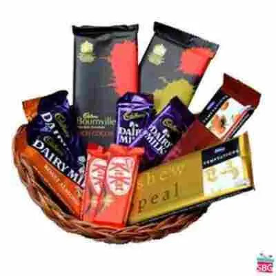 Basket of Indian Chocolates