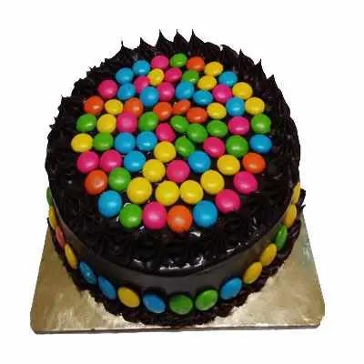 Chocolate Cake with Gems