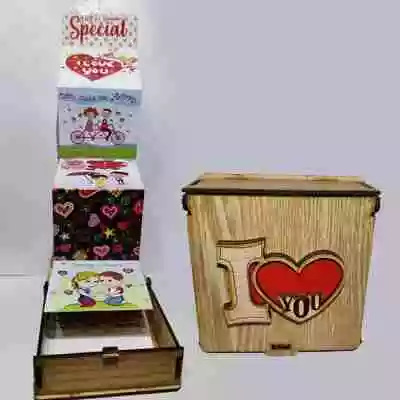 I Love You Wooden Box with Card