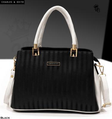 Black CHARLES & KEITH Compartments Handbag