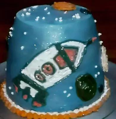 Galaxy Theme Cake With Double Twist