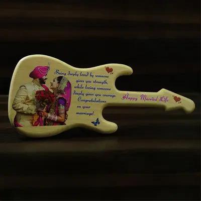 Guitar Wooden Engravings Gift