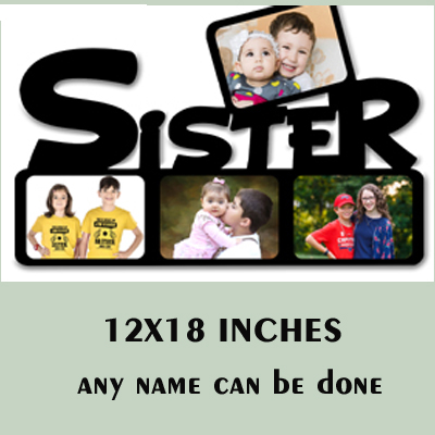 MDF Wooden Personalized Sister Photo Frame