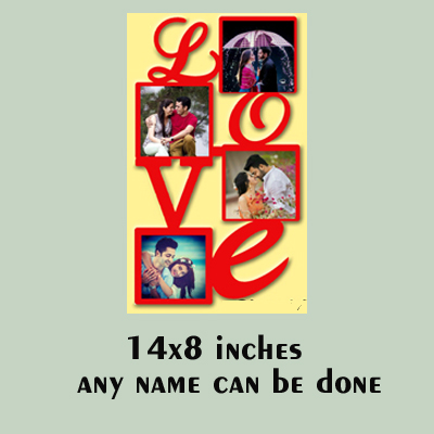 MDF Wooden Love You Photo Frame