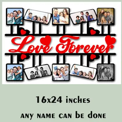 MDF Wooden Personalized Love Forever Gift