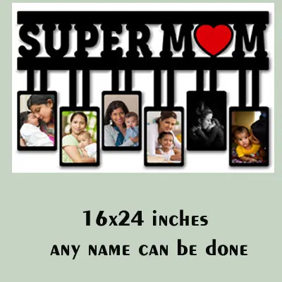 MDF Wooden Personalized Gift for Super Mom