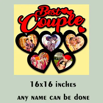 MDF Wooden Best Couple Photo Frame