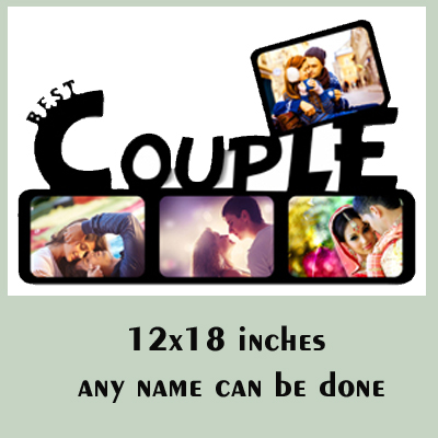 MDF Wooden Couple Photo Frame
