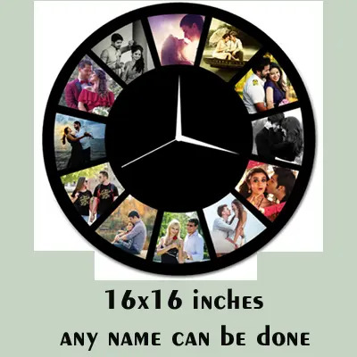 MDF Wooden Personalized Round Photo Clock