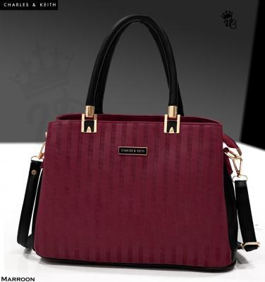 Mehroon CHARLES & KEITH Compartments Handbag