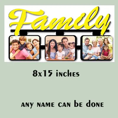 Wooden MDF 3 Family Photos Frame