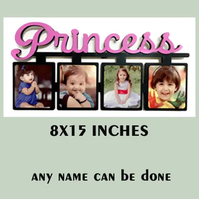 Wooden MDF 4 Princess Photos Frame