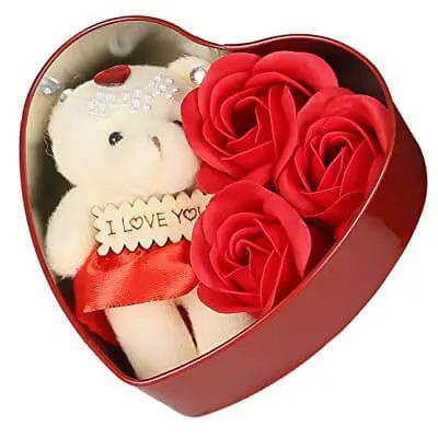 Teddy Roses in Box