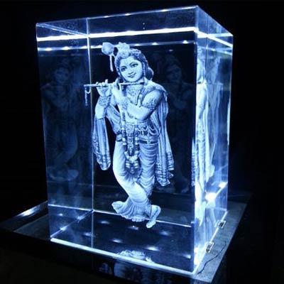 Krishna 3D Crystal
