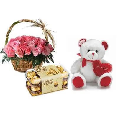 Roses, Teddy & Chocolate