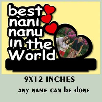 Wooden Customised Best Nana Nani Frame